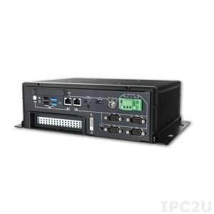 """WEBS-5482-W-2980U Embedded Fanless Rugged Server with Intel Celeron 2980U, 1.6GHz, up to 16GB DDR3L SODIMM, DVI-D/DP/HDMI, 2xGb LAN, 4xCOM, 4xUSB, 1x2.5"""" SATA Drive Bays, mSATA, 2x Mini-PCIe, 1xPCIex1, 96W AC/DC Power Adapter"""