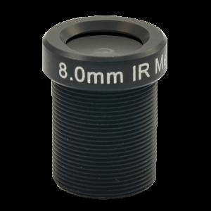 PLEN-4103 Fixed Focal f8.0mm, Fixed Iris F1.8, Fixed Focus, D/N, Megapixel, Board Mount Lens