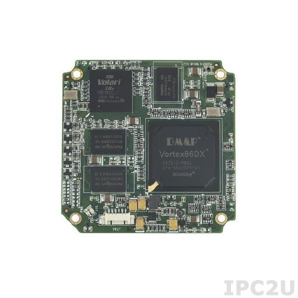 SOM304RD52VICE1 SOM304 Module Vortex86DX 800MHz CPU with 256MB DDR2, VGA/LCD, 5xCOM, 4xUSB, LAN, 2xGPIO, PWMx24, 1GB NAND Flash