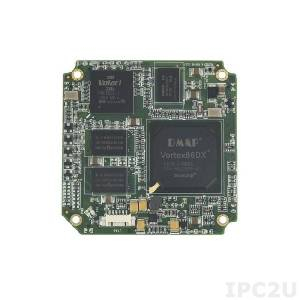 SOM304RD52VICE1 SOM304 Module Vortex86DX 800MHz CPU with 256MB DDR2, VGA/LCD, 5xCOM, 4xUSB, LAN, 2xGPIO, PWMx24, 1GB NAND Flash