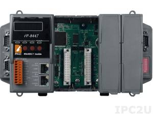 iP-8447 4 slots Faster CPU (80 MHz) Dual Ethernet ISaGRAF PAC 80186, 80MHz, 10/100 Mbps