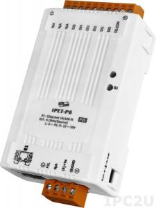 tPET-P6 Tiny Ethernet module with PoE, 6-ch DI