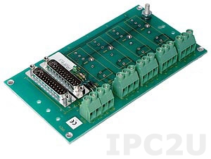 SCM7BP04-DIN 4 Channels Backpanel for SCM7B Modules, DIN Rail Mounting