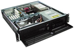 """GHI-213 19"""" Rackmount 2U Chassis, ATX, 1x5.25""""/1x3.5"""" FDD/3x3.5"""" HDD Drive Bays, without P/S"""