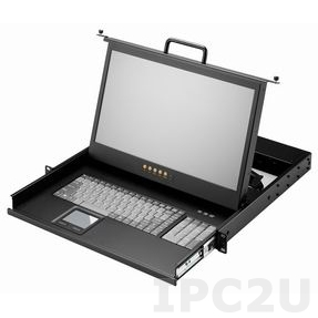 "AMK501-17PB 1U, 17.3"", 1600x900 LCD keyboard drawer, single rail, with 1.8m KVM cable, 1 port PS2 K/B, touchpad"