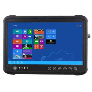 "FDN133R 13.3"" Rugged Tablet PC with PCT Touch, Intel Core i5-5200U 2.2GHz CPU, 4GB DDR3L-1600, 128GB M.2 SSD, 2xM.2 Slots, 4xUSB, HDMI, GPS, SD Card, Audio, cameras 5MP/2MP"