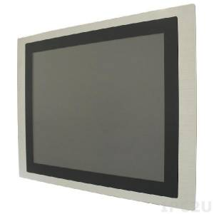 "iROBO-TP159A 15"" TFT LCD Fanless Panel PC, Aluminium Front, Multi-Touch Screen, Intel Atom D2550 1.86GHz CPU, up to 4GB DDR3 SODIMM RAM, 2xGbit LAN, 1xCOM, 2xUSB, Mini-PCIe, 12V DC-In, External Power Adapter"