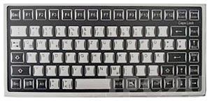 TKF-085c-MGEH-PS/2 Desktop Industrial Flat IP65 Keyboard, 85 Keys, PS/2 Interface