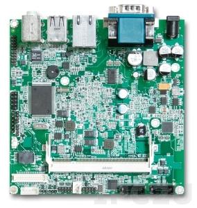 NANO-8045-1600 Nano-ITX Intel Atom Z530 1.6GHz CPU Card with DVI-D, LVDS, Gb LAN, CF, 2xUSB, Audio