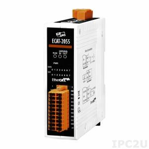 ECAT-2055 EtherCAT Slave I/O Module with Isolated 8-ch DO and 8-ch DI (RoHS)