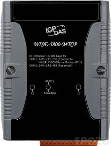 WISE-5800-MTCP User-defined I/O & Data Logger Module for Modbus TCP Devices, 16-bit CPU, 2xCOM, LAN, I/O Expansion Bus