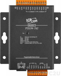 PDSM-762 Programmable Device Server with five RS-232 , one RS-485 ports and one DI and two DO ports with Metal Case