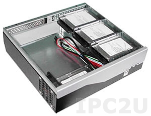 "GHB-B05-4 Compact Chassis for Mini-ITX CPU Board, 1x3.5""/2x2.5"" Drive Bays, without Power Supply"