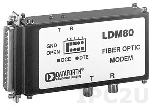 LDM80-S-025 RS-232 to Fiber Optic Converter, Signal Powered