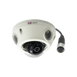 E928M 3MP Outdoor Mini Dome with D/N, Adaptive IR, Superior WDR, M12 connector, Fixed lens, f2.93mm/F2.0, H.264, 1080p/30fps, 2D+3D DNR, Audio, MicroSDHC/MicroSDXC, PoE, IP68, IK10, EN50155
