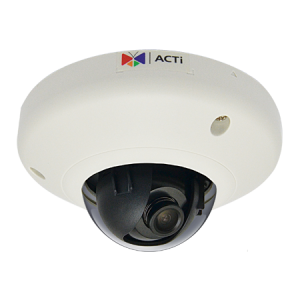 E91 1MP Indoor Mini Dome with Basic WDR, Fixed lens, f2.93mm/F2.0, H.264, 720p/30fps, DNR, MicroSDHC/MicroSDXC, PoE, IK08