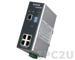 JetNet-4005 Industrial Web-Managed Ethernet Rail Switch with 5x10/100Base-TX Ports