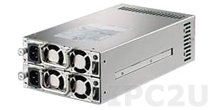 ZIPPY MRM-6600P Mini Redundant AC Input PS/2 600+600W ATX Power Supply, with Active PFC, RoHS
