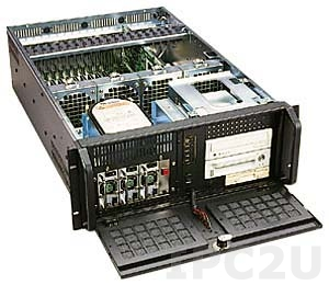 """GH-432SR 19"""" Rackmount 4U Chassis, 19 Slots, 3x5.25""""/1x3.5"""" FDD/2x3.5"""" HDD Drive Bays, without P/S"""