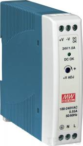 MDR-20-24 AC Input 85-264VAC, 120-370VAC Industrial Power Supply , Output 24VDC/1A, DIN-Rail Mounting