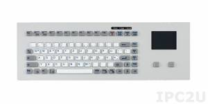 TKG-083b-TOUCH-MODUL-PS/2 Embedded Industrial Silicone IP65 Keyboard, 83 Keys, Touchpad, PS/2 Interface