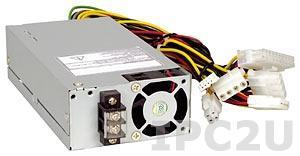 ACE-4520C-RS 24V DC Input 200W ATX 1U Industrial Power Supply, RoHS