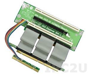 GHP-U746-C9 2xPCI-X 64bit 3.3V, 1xPCI Express x16 Slots Riser Card for 2U Rackmount Chassis
