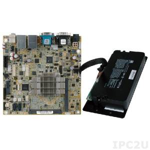 eKINO-BT-J19001 Mini-ITX SBC supports AUPS Sub-System, Intel Celeron Quad-Core Processor J1900(10W), wide range 9-30VDC input,VGA/ Dual LVDS, SATA, Dual GbE, USB 3.0, Audio, CFAST and RoHS