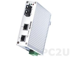JetCon 1302-mw Industrial Ethernet to Multi Mode Fiber Rail Converter, Wide Temperature -40..+80 C