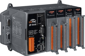 LP-8441-FDA-LP ISaGRAF 6 PC-compatible PXA270 520MHz Industrial Controller, 48Mb Flash, 128Mb SRAM, 2xRS-232, 1xRS-485, 1xRS-232/485, 2xEthernet, Linux 2.6.19, with 4 Expansion Slots, ISaGRAF 6