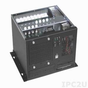 "GHB-083-8 Wallmount Chassis, 8 Slots, 1x5.25""/1x3.5""/1x3.5"" HDD Drive Bays, without P/S"
