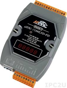 uPAC-7186EXD-FD PC-compatible 80MHz Industrial Controller, 512kb Flash, 512kb SRAM, 64Mb Flash-disc, 2xRS232/485, 10/100M Ethernet, MiniOS7, LED Display