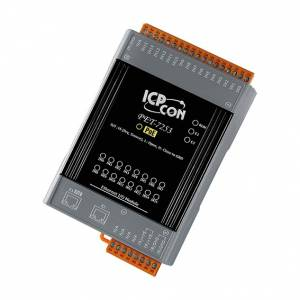 PET-7253 Ethernet I/O Module with 2-port Ethernet Switch, with 16-ch DI, PoE (RoHS)