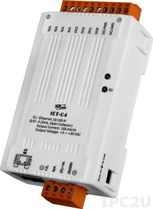 tET-C4 Tiny Ethernet module with 4-ch DO (NPN, Sink) (RoHS)