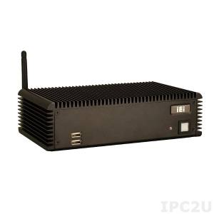 "ECW-281B-R30/N270/1GB Fanless Embedded Server with Intel ATOM N270 1.6GHz, 1GB DDR2 SODIMM, VGA, 2xGb LAN, 4xUSB, 6xCOM, 1x2.5"" Drive Bay, 60W Power Adapter, 12VDC Input"