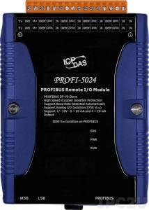 PROFI-5024 PROFIBUS Remote I/O unit, 4-Ch Isolated Analog Voltage & Current Output