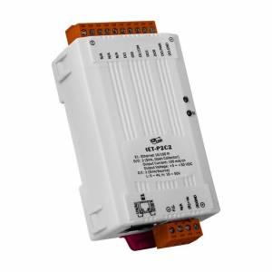tET-P2C2 Tiny Ethernet I/O Module, 2DI/2DO (NPN, Sink)