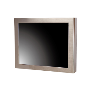 """iROBO-FM150S 15"""" Industrial TFT LCD Display, Full IP65 Stainless Steel, Resistive Touch Screen, 250 cd/m2, VGA, USB Touch Screen, 12V DC-In, 60W External Power Adapter"""