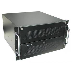 """GHI-611ATXR 19"""" Rackmount 6U Chassis, ATX motherboard, 4x5.25""""/1x3.5""""FDD/1x3.5""""HDD Drive Bays, for Single PS/2 Size Power Supply"""