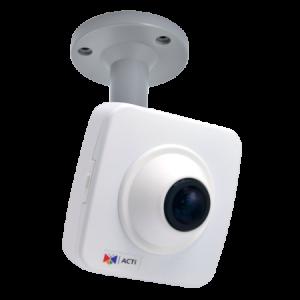 E16 10MP Fisheye Cube with Basic WDR, Fixed lens, f1.37mm/F2.0, H.264, DNR, Audio, MicroSDHC/MicroSDXC, PoE