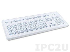 TKS-105c-KGEH-PS/2 DeskTop Industrial IP65 Keyboard, 105 Keys, PS/2 Interface