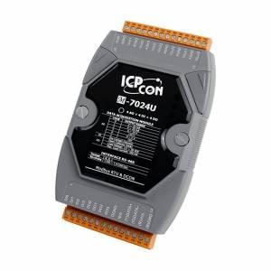 M-7024U 4-channel Analog Output,4-channel Digital Input and 4-channel Digital Output Module, Modbus