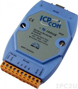 I-7520AR RS-232 to RS-422/485 Converter with RS-485 Automatic Data Direction Control, Isolation Protection