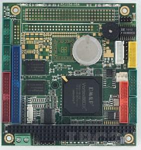 VDX-6350RDE PC/104 Vortex86DX 800MHz CPU Module with 256MB RAM, LAN, 4xCOM, 2xUSB, GPIO, operating temp -20..70 C