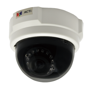 D55 3MP Indoor Dome with D/N, Adaptive IR, Fixed lens, f3.6mm/F1.8, H.264, 1080p/30fps, DNR, PoE