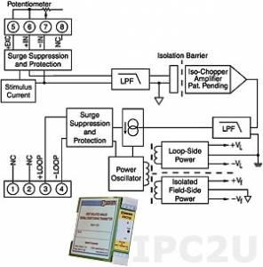 DSCT36-04 Potentiometer Input Transmitter, Input 0...10 kOhm, Output 4...20 mA