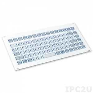 "TKF-085b-FP-PS/2 19"" 3U Industrial IP65 Keyboard, 85 Keys, PS/2 Interface"