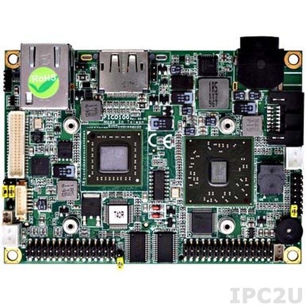 PICO100VGA-T40R Pico-ITX Mainboard with AMD G-Series APU T40R 1GHz with VGA/LVDS, Gigabit Ethernet, 2xCOM, 4xUSB, Audio