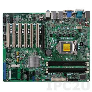 SB600-C ATX Mainboard with Socket LGA1155 Intel Core i3/i5/i7, Intel B65 Chipset, up to 32GB DDR3 RAM, VGA, DVI-I, 2xGbit LAN, 10xUSB, 2xCOM, 4xDI/4xDO, 1xSATA3, 5xSATA2, Audio, Mini-PCie, 6xPCI / PCIe x16 Slots