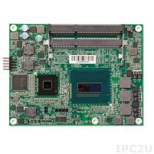 PCOM-B630VG-i5-4402E Based Type 6 COM Express module with Haswell Intel Core i5-4402E 1.6Ghz, QM87, DDR3L SDRAM, VGA, LVDS, Gigabit Ethernet, SATA 300, USB, PCI-Express x16